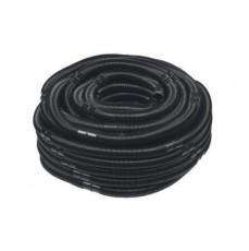 Шланг гофрированный, d=38 мм, цвет - черный, секция - 0,5 м (50 м в бухте)