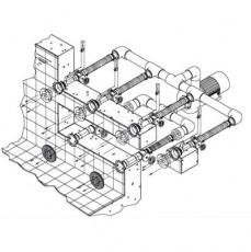 Основной компл.системы г/м ;Combi-Whirl ;стеновой, 2 всасыв. 4подающ.форс.насос-4 кВт,4