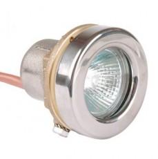 Прож. галог. MIDI 50Вт, 12В AC, круг 72мм, накл. с контрагайкой 1 1/2 , NiSn, 2 м 2x1,5 мм2, BZ