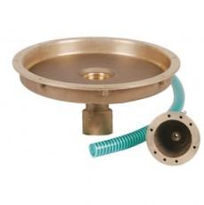 Закладные детали системы круглого аэтомассажа, с  прямым выходом 2 , вн.р., бронза для соленой воды