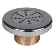 Форсунка с регулир. произ. 1 1/2  н.р., l= 40 мм, для бет. басс, бронза/накладка и крышка нерж.сталь