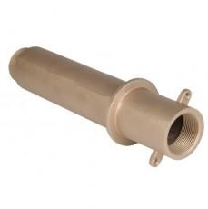 СНЯТО С ПР-ВА! Труба-проход через стену для бет. басс,1 1/2  вн.р х 1 1/2  н.р., длина 300 мм, бр.