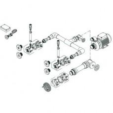 Комплект системы г/м Standard , 2 форсунки,насос - 0,5 кВт, 230 В, 50 Гц,