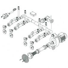 Основной комплект системы г/м Standard , 4 форсунки, для плит.басс., насос - 1,5 кВт, 230 В, 50 Гц,