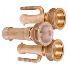 Закладные детали системы г/м  ;Combi-Whirl ; стеновой, 1 всасыв. и 2 подающ. форс., 240 мм, бронза