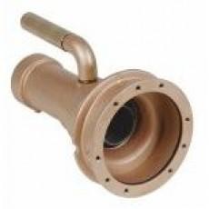 Форсунка г/м  ;Combi-Whirl ; стеновая, закл.часть, 240 мм, вн.р. 2 ; для плит. и плен. басс., бронза