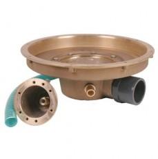 Аэромассаж круглый, с боковым выходом 1,5 , вн.р, бронза, с галогеновым прожектором 50 Вт, 12 В