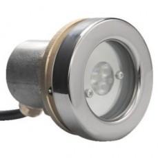 Прож. 3 Power LED 2.0, 8 Вт, 24В DC, круг 72 мм, накл. с контраг., V4A, 3000К, 5 м 2x0,75 мм2, RG