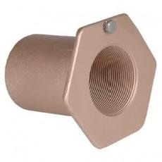 Труба-проход через стену для бет. басс, 2  вн.р, длина 100 мм, бронза