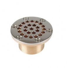 Всасывающая форсунка переливного желоба, Ø 92,5 мм, длина 70 мм, 2  н.р., 1 1/2 вн.р., бронза/накл.