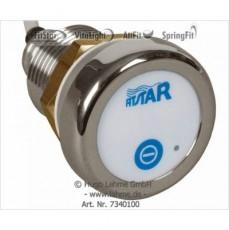 Мембранная кнопка с диодной подсветкой одинарная, с кабелем 2,5м