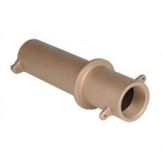 Труба-проход через стену для бет.басс,1 1/2 вн.р х 1 1/2 вн.р.,длина 240 мм,бронза  для соленой воды