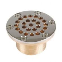 Всасывающая форсунка переливного желоба, Ø 92,5 мм, длина 40 мм, 2  наружная резьба,  бронза/накл.