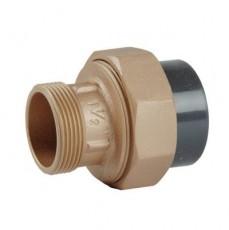 Соединительная муфта бронза/ПВХ , G11/2, внешн.р. 50 DN40