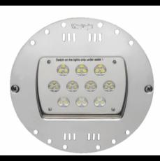 Прож. 30 Power LED 2.0, плоский-в стену, 80 Вт, 24В DC, круг-V4A, монох. 3000 К, 5 м 2x1,5 мм2, RG