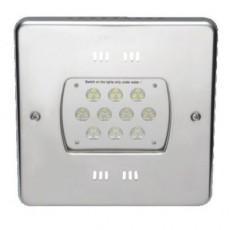 Прож. 30 Power LED 2.0, 80 Вт, 24В DC, квадрат 270 мм, V4A, монох. 3000К, 5 м кабель 2x1,5 мм2, BZ
