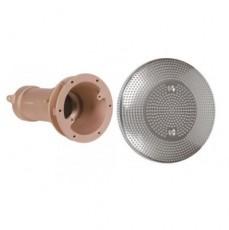 Устройство водозабора DN 65 из бронзы, 2&frac12 вн.р.,с накл. из нерж.стали 316L   200 мм для соленой воды