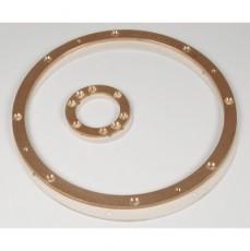 Комплект из двух фланцев для аэромассажа d=300 мм, в пленочном бассейне, бронза