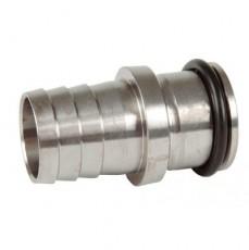 Переходник-наконечник NiSn с уплотнительной прокладкой, нерж.сталь  (для соленой воды)