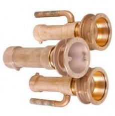 Закладные детали системы г/м  ;Combi-Whirl ; стеновой, 1 всасыв. и 2 подающ. форс., 240 мм, бронза (дл