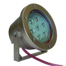 Светодиодный прожектор монохромный, Power-LED 7 x 3 Вт, светодиодная лампа HR 111, цвет зеленый