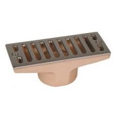 Всасывающая форсунка переливного желоба, 100 х 60 мм, 2  вн.р., бронза/накладка-NiSn