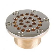 Всасывающая форсунка переливного желоба,   108 мм, длина 100 мм, 2 1/2  н.р., бронза/накл.-NiSn