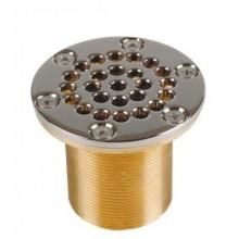 Всасывающая форсунка переливного желоба,   92,5 мм, длина 70 мм, 2  н.р., 1 1/2 вн.р., бронза/накл.-