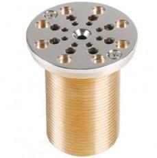 Всасывающая форсунка переливного желоба,   66 мм, длина 70 мм, 1 1/2 н.р., бронза/накл.-NiSn