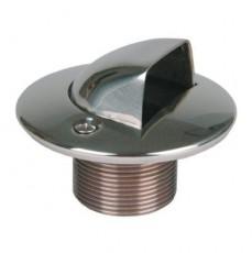 Форсунка подающая в бок 1 1/2  н.р., длина 70 мм, для бет. басс., бронза/накладка нерж.сталь