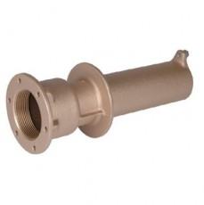 Труба-проход через стену для бет. и плен. басс, 2  вн.р х 1 1/2  вн.р., длина 240 мм, бронза