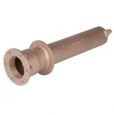 Труба-проход через стену для бет. и плен. басс, 2  вн.р х 1 1/2  вн.р., длина 340 мм, бронза