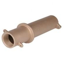 Труба-проход через стену для бет. басс, 1 1/2  вн.р х 1 1/2  вн.р., длина 240 мм, бронза
