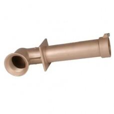 Труба-проход через стену для бет. басс, 2  вн.р х 2  вн.р., длина 300 мм, с поворотом 90, бронза