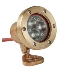 Светодиодный прожектор Power-LED для подсветки фонтанов, 3 x 3 Вт,  цвет белый, степень защиты IP68