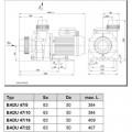 Насос BADU 47/5, 1~ 230 В, 0,58/0,30 кВт