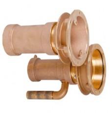 Закладные детали системы г/м  ;Combi-Whirl ; стеновой, 1 всасыв. и 1 подающ. форс., 240 мм, бронза