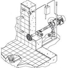 Основной компл.системы г/м Combi-Whirlдонный,1 всасыв. и 1 подающ.форс.насос - 2,2 кВт, 2