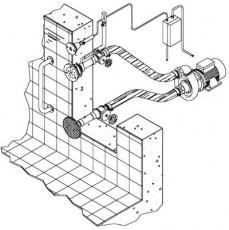 Основной компл.системы г/м Combi-Whirl стеновой,1 всасыв.1подающ.форс.насос-2,2 кВт