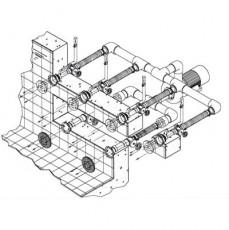 Основной компл.системы г/м Combi-Whirlстеновой, 2всасыв. 4подающ.форс.насос-4,0 кВт