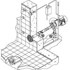 Основной комплект  системы г/м Combi-Whirlдонный, 1 всасыв.и 1подающ.форс.насос - 2,2 кВт, 2