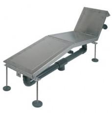 Лежак аэромассажный FitStar, 1 местный, нерж. сталь, 1,1 кВт, пленка