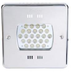 Прожектор Power LED, 24x3Вт, 12В DC, квадрат 270 мм, V4A, монох. 6000К, 5 м кабелем 2x1,5 мм2, RG