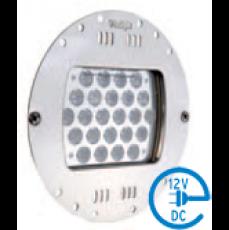 Светодиодный прожектор Power-LED, 24 x 3 Вт, 12 В, накладка-нерж.сталь, RGB, с 5-м. кабелем