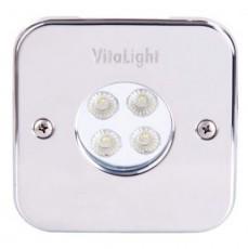 Прож. Power LED, 4x3 Вт, 24В DC, 50, квадрат 110 мм, V4A, монох. 6000К, 5 м кабель 2x0,75 мм2, RG