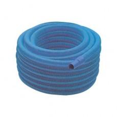 Шланг гофрированный, 30 м БЕЗ эластичных муфт, 38мм, цвет - синий (GEMAS)