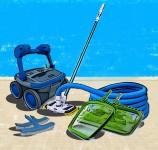 Уход за бассейном: ручная чистка и роботы пылесосы