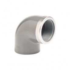 Угол 90° ПВХ EFFAST RGRGOR с внутр. резьбой (металлическое кольцо)
